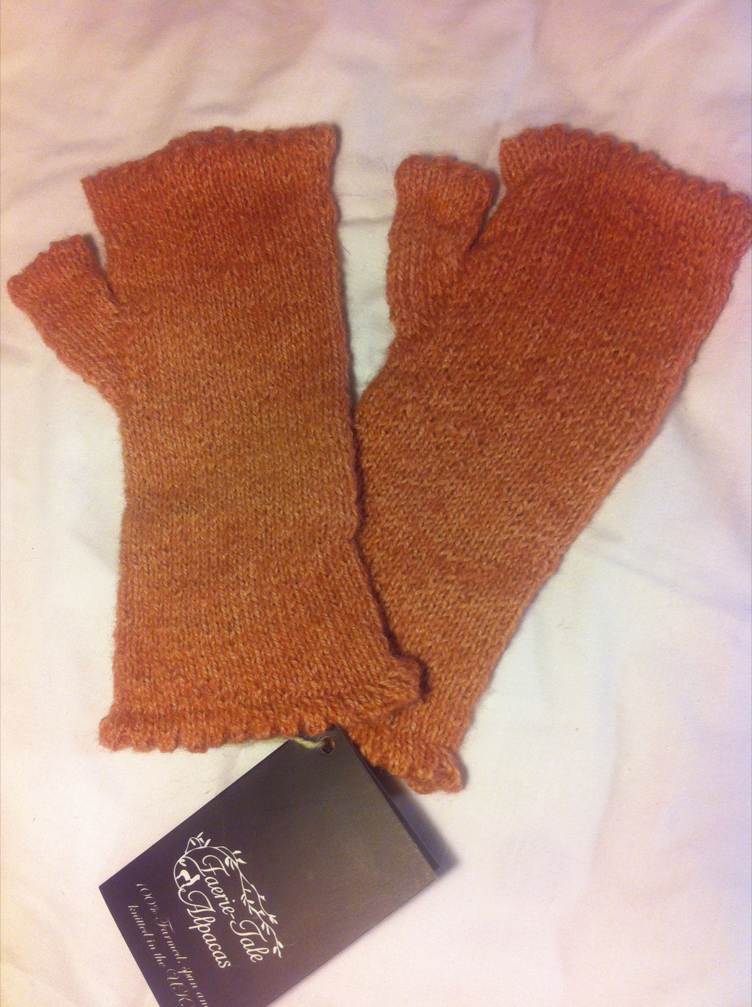 Plain Wristwarmers in Rose